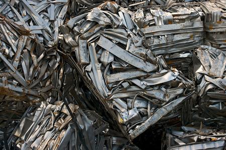 metal bales of scrap