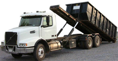 truck for carrying rolloff containers.