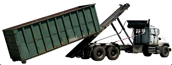truck for transporting rolloff containers